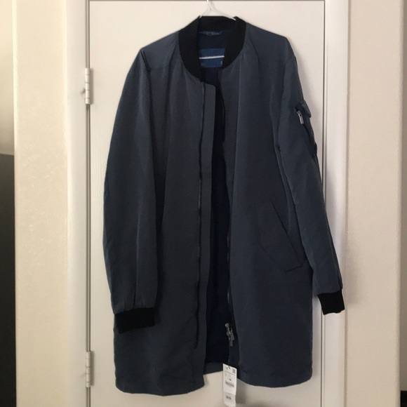 f9a26796ce6 ZARA Man BNWT Black Or Dark Grey Wool Long Bomber Jacket Coat L 4391 450.  Zara men s long bomber jacket. Zara men s long bomber jacket
